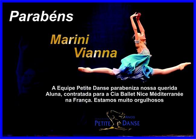 Marini Vianna, bailarina do Projeto Social consegue contrato com Cia de Dança na França