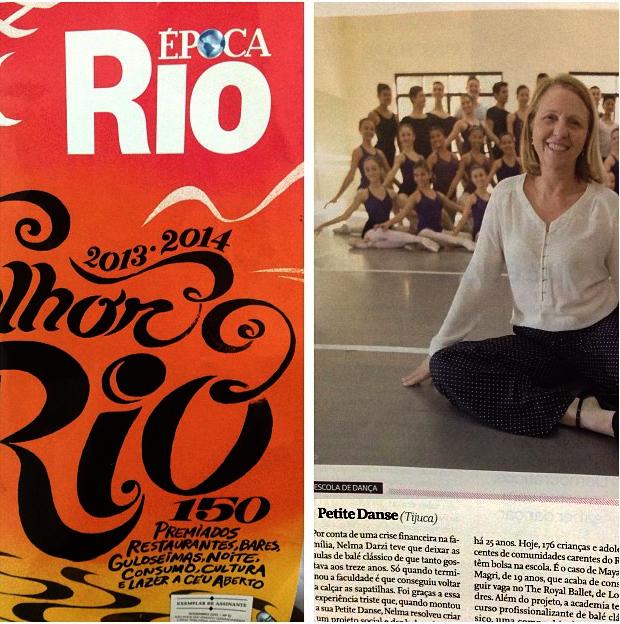 O Melhor do Rio - Revista Época 2013 - Prêmio Claudia - Escola de Dança Petite Danse