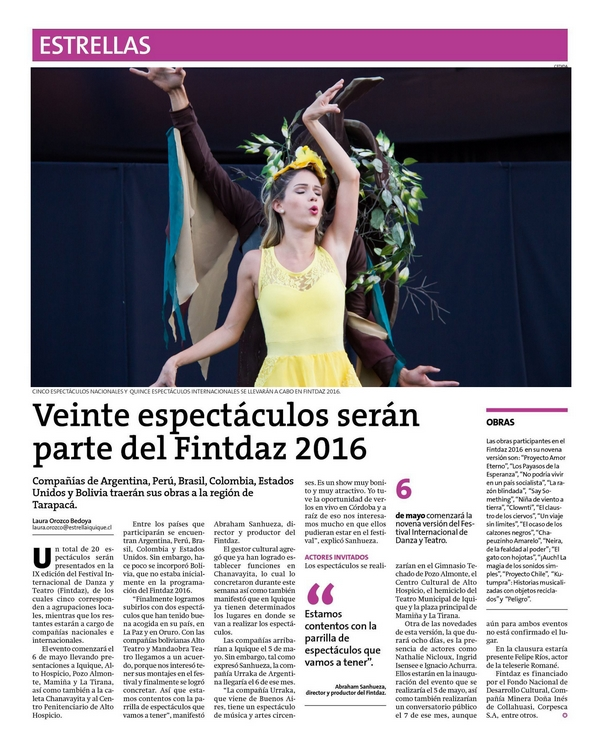 Cia dançar a vida no Chile