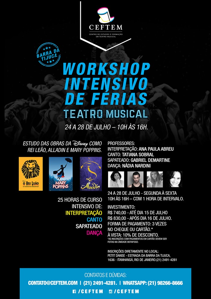 Workshop intensivo de dança férias 2017