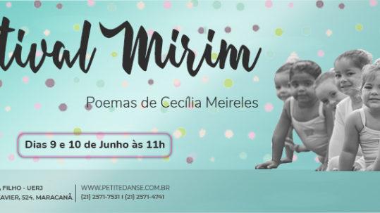 Escola de Dança Petite Danse realiza no primeiro semestre do ano letivo o Festival Mirim